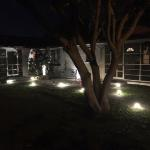 Outdoor pathway lights make a dramatic effect as well as provide security.